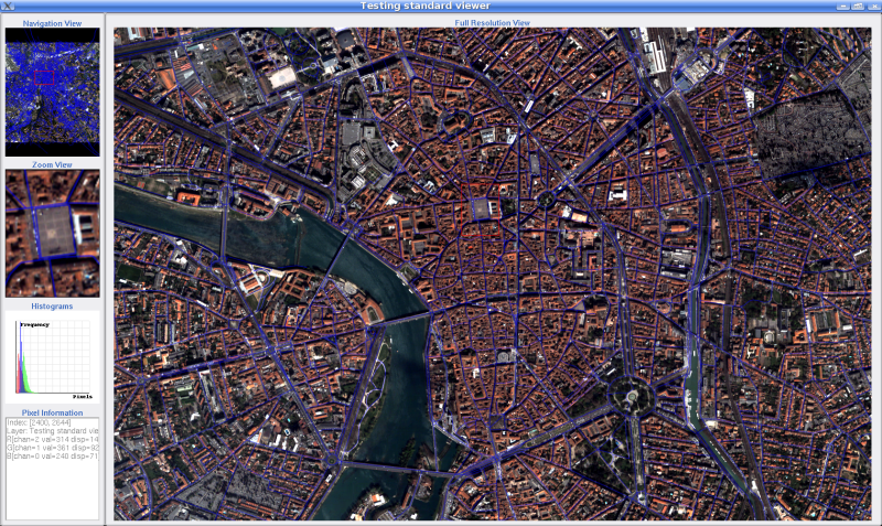 Using the new design, a tool to quickly render vector data files (shapefile or kml) has been built